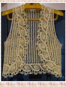 13145137e Bolero em crochê com gráfico - Katia Ribeiro Crochê Moda e Decoração ...