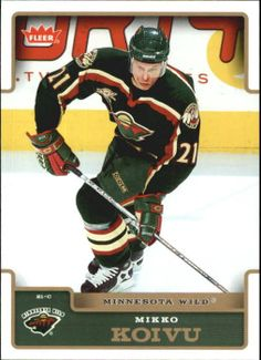 Fleer Mikko Koivu - Check out your favorite player cards listed in Beckett Marketplace. Player Card, Minnesota Wild, Nhl, The 100, Baseball Cards, Gallery, Roof Rack
