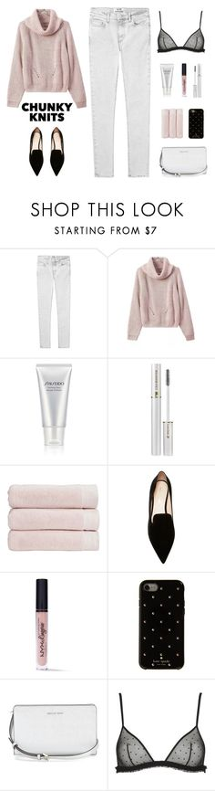 """""""Not My Fault"""" by yummymummystyle ❤ liked on Polyvore featuring Acne Studios, WithChic, Shiseido, Lancôme, Christy, Nicholas Kirkwood, NYX, Kate Spade, La Perla and styleicons"""