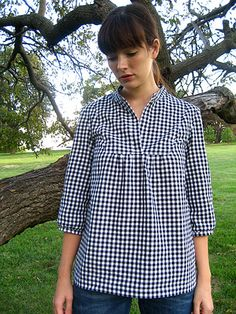 tova shirt by wikstenmade, via Flickr -- Not a tutorial, but definitely doaboutle from a men's shirt.