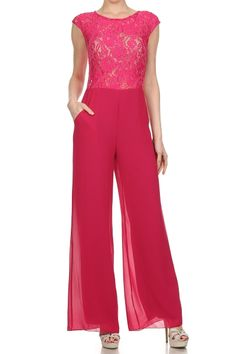 Do you love this ?  Full Length Duo Fabric Wide Leg Jumpsuit.