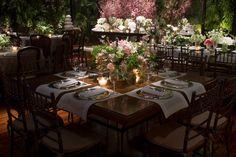 Arranjo de mesa baixo - Casamento de luxo