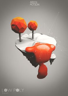 Low Poly Test by abstraction , via Behance