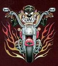 Mischievous Little Devil ツ Taz Motorcycle Humor, Motorcycle Art, Bike Art, Taz Tattoo, Devil Tattoo, Looney Tunes Characters, Looney Tunes Cartoons, Tasmanian Devil Cartoon, Yosemite Sam