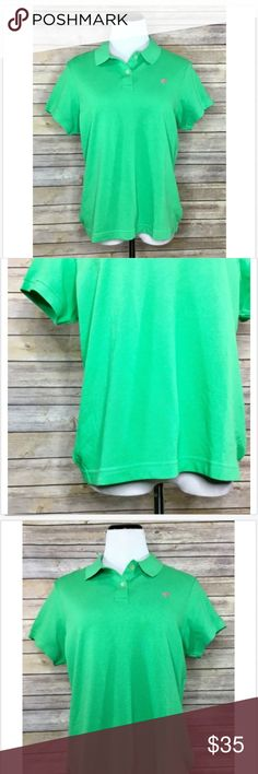 """Lilly Pulitzer Womens Shrunken Pique Polo Shirt Lilly Pulitzer Women's Shrunken Pique Polo Shirt. New With Tags. Size XL. 95% Pima Cotton and 5% Spandex.  Item# C12  Length - 24.5"""" Chest - 42"""" Waist - 40"""" Lilly Pulitzer Tops"""
