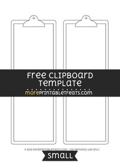 Free Clipboard Template - Small