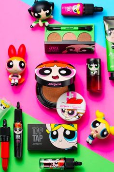 Girls Will Freak When They See This Powerpuff Girl Makeup Collection Kids Makeup, Cute Makeup, Makeup Looks, Makeup Remover, Makeup Brushes, Powerpuff Girls Makeup, Blusher Brush, 90s Girl, Magical Makeup
