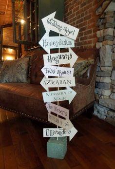 Spellbinding signage #harrypotter #wedding