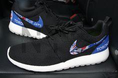 b6020ca4838 Toronto Blue Jays Nike Roshe One Run Black Custom Men Women