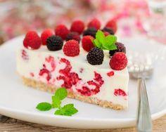 Cheesecake aux framboises sans cuisson