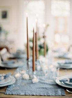 Amber tapered candles I Floral Design & Styling: Poppies & Posies I Jen Huang Photography