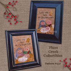 Nativity Christmas Stitchery and Punch Needle Embroidery Pattern #331