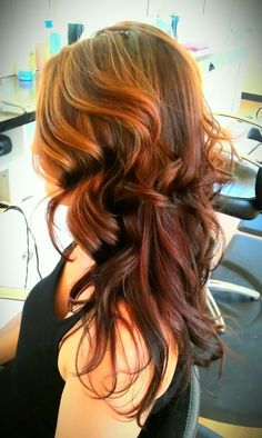 reverse ombre for growing out that dark colored hair into a lighter shade.