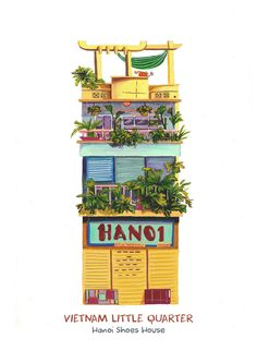 [Illustrations] Local Artists Bring Vietnam's Eclectic Shopfronts to Life…