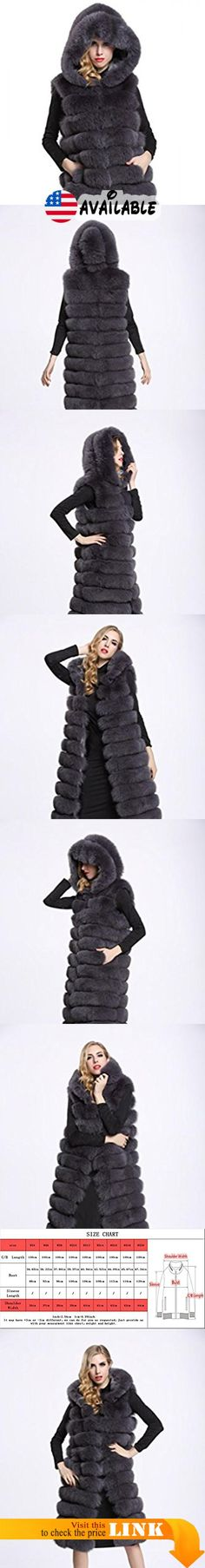 "B01JE7470S : TOPFUR Women's Grey Fox Fur Vest Whole Skin Long Fox Fur Hooded Vest(M). Made from high quality Genuine whole fox fur external with soft and elastic Polyester Lining which feels cozy on the skin and comfortable to wear. Available sizes and colors of stylish fur vest excellently fit well with your demand. Length:39.37""(100cm). Elegant Hat with handsome slant pockets design look stereoscopic and gorgeous as the cool model when wearing this practical and fashion"