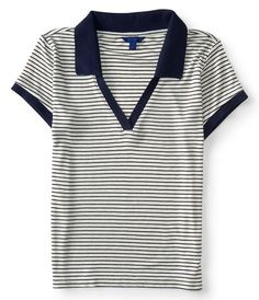 Striped Throwback Jersey Polo