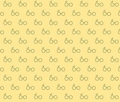 Harry Potter yellow fabric by closet_crafter on Spoonflower - custom fabric