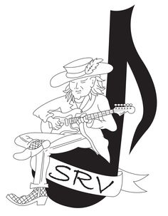 Steve Ray Vaughan, Texas Music, Best Guitar Players, Stevie Ray, Record Producer, I Love Music, My Hero, Illustration, Tattoo Designs