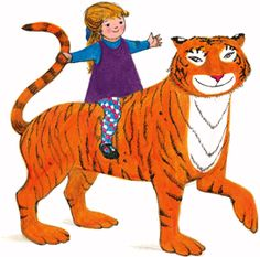 """TheTiger Who Came To Tea"" published in written and illustrated by Judith Kerr. Drawing For Kids, Painting For Kids, World Book Day Ideas, Tea Tattoo, Tiger Drawing, Cartoon Wall, Children's Book Illustration, Book Illustrations, Animal Fashion"