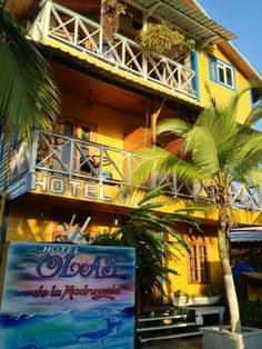 Hotel Las Olas in Ave Sur, Bocas Town, Isla Colon, Bocas del Toro.