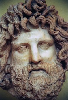 Marble portrait of Zeus. Piraeus museum - Greece