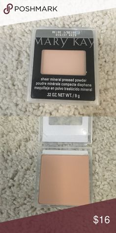 Mary Kay sheer mineral pressed powder beige 1 New with box. Brand new never used. Mary Kay Makeup Face Powder