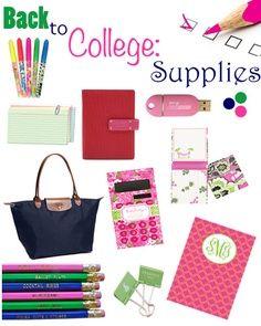 College supplies