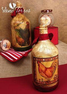 Pintado Botellas – Oferta | ArteClases.com Ideas Para, Jars, Home Decor, Painted Bottles, Arts And Crafts, Invitations, Upcycling, Decoration Home, Room Decor