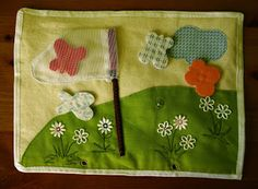 How to Make a Quiet Book The butterfly net!! Sooo cute