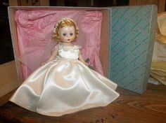 "1955 Madame Alexander 8"" SLW Bride # 475 Alexander-kin Doll MINT IN BOX"
