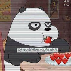 Thấu hiểu tâm tư! Bear Wallpaper, Iphone Wallpaper, We Are Bears, Best Memes, Funny Memes, Cartoon Network, We Bare Bears Wallpapers, Sad Stories, Bff Quotes