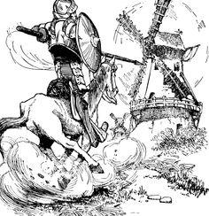 Don quixote and sancho at the windmills don quixote pinterest don quixote fandeluxe Gallery