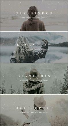 Hogwarts Houses | Harry Potter | Tumblr
