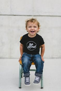Be Kind Infant Tee in Black by TheKindredStreet on Etsy, $18.00