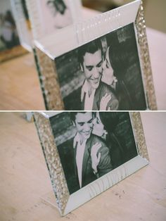 27,5 x 22 cm - White and Silver Glass Photoframe - Photographed by Gabriele Parafioriti Photography - Photo inside Taylor Lord