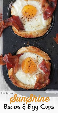 SunShine Egg and Bacon Cups