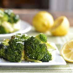 Roasted Broccoli with Garlic, Parmesan and Lemon