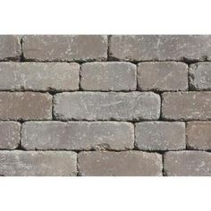 Rockwood Retaining Walls Lakeland I 8 in. L x 12 in. W x 4 in. H Santa Fe Tumbled Concrete Garden Wall Block sq. Retaining Wall Blocks, Concrete Retaining Walls, Concrete Garden, Concrete Wall, Landscaping Supplies, Backyard Landscaping, Old Brick Wall, Outdoor Living Rooms, Wall Seating