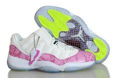 580521-108 Womens Air Jordan 11 Low GS Pink Snakeskin basketball shoes  Wholesale Nike Shoes aea8f0e04