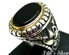 Men's Ring Turkish Ottoman Style Silver by IdilsShop