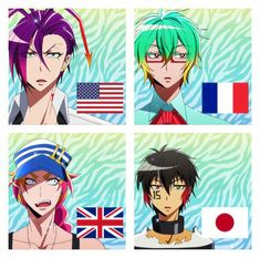 I love how this anime(and the manga) have so many characters from so many different countries and walks of life! Nanbaka Anime, Anime Guys, Anime Art, Anime Cosplay, Angel Of Death, Nocturne, Otaku, Pokemon, Comic