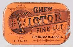 Darby and Joan Try Plug on one side and Charles W. Allen, Chicago - Chew Victor Fine Cut on the other. Red with black.