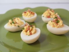 Bacon-Stuffed Eggs - CDKitchen.com -  This basic recipe for deviled eggs gets a little extra flavor from the addition of bacon to the filling. Bacon makes everything better.