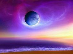 Rainbow Color Abstract Moon