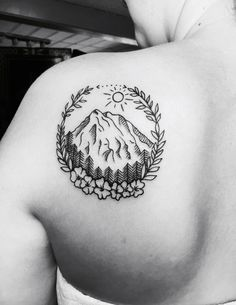 Couldn't be happier! ❤️ #tattoo #traveltattoo #mountain #mountaintattoo #hippietattoo