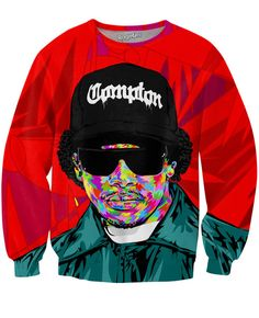 This all-over-print Eazy-E Crewneck Sweatshirt by Technodrome1 features one of artists from the legendary hip-hop group N.W.A.! Give tribute to the Godfather of