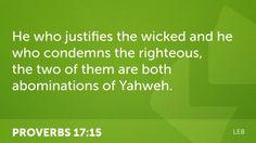 Proverbs 17:15