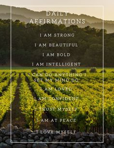 Purchase, download, print, frame and hang in a place that you can see everyday! Get your daily affirmations in with a view of the beautiful Napa Valley! inspirational thoughts self affirmations self worth affirmations confidence affirmations positive mantras affirmations motivational affirmations best affirmations happiness affirmations gratitude affirmations words of affirmation positive affirmations inspirational words mindfulness decor wall art inspirational wall art home decor for wall #Etsy