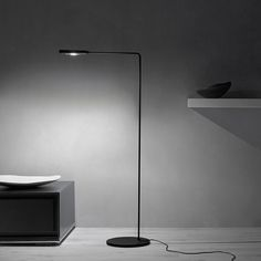 32 Furnishings and Accessories Bring Cheer to the Workplace Flo floor lamp in aluminum and steel by Lumina Italia. Interior Design Magazine, Interior Design Inspiration, Interior Ideas, Italian Lighting, Modern Lighting, Lighting Concepts, Lighting Ideas, Lighting Design, Lighting Manufacturers