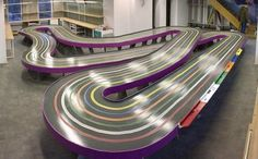 New track in Lviv, Ukraine, designed by Janis Nabokins Slot Car Tracks, Slot Cars, News Track, Ukraine, Circuit, Racing, Ideas, Design, Dance Floors